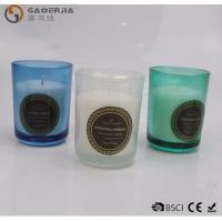 Best Smokeless Color Spraying Glass Cup Paraffin Wax Candle No Harmful wholesale