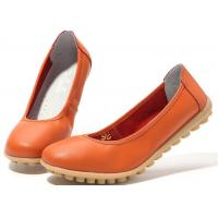 Best Low Heeled Leather Comfortable Casual Shoes Flat Gum Rubber Outsole Womens Shoes wholesale
