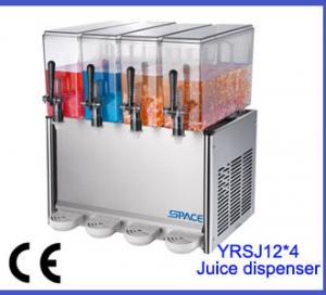 Best Four Tanks Fresh Juice Dispenser Machine , Restaurant / Party Beverage Dispenser wholesale