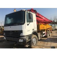 China 2012 Year Used Benz Concrete Pump 37m White And Red , 32000kg Weight on sale