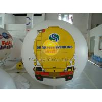 Cheap White PVC Large Printed Helium Balloons with UV protected printing for Opening event for sale
