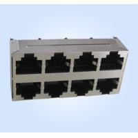 Best Top Entry(Vertical) Modular Jack RJ45 2X4 8P8C Double deck Multi-ports Shielded wholesale