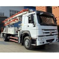 Best 6 Wheels Concrete Pump Truck / Cement boom Truck With 125M3 / H High Output wholesale