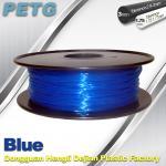Best 3D Printer Transparent Material 1.75 / 3.0 mm PETG Fliament Blue Plastic Spool wholesale