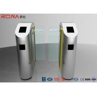 Best Security Turnstile Barrier Gate Automatic Sliding Type Tempered Glass Customized Color wholesale