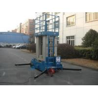 Best Four Mast Blue Hydraulic Lift Ladder Electric Motor With 12 m Platform Height wholesale