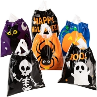 Best Drawstring OPP CPP Plastic Candy Goodie Bags For Halloween Favors wholesale