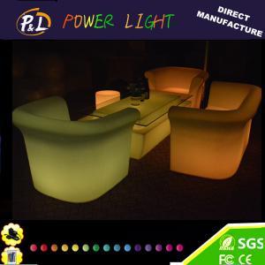 Color Changing Plastic LED Single Lounge Sofa Sets