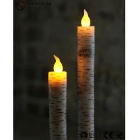 Best Warm White Light Taper Led Candles With Moving Flame AA Battery Type wholesale