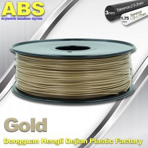Best Custom Gold Conductive ABS 3d Printer Filament 1.75 mm / 3.0mm Plastic Materials wholesale