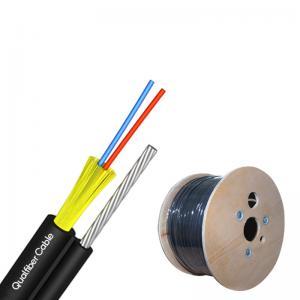 Best 2 Core FTTH Aerial Drop Cable , Flexible Anti UV LSZH Fiber Optic Cable wholesale