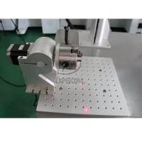 Cheap 20W Aluminum Material Fiber Laser Marking Machine with Rotary Clamp for sale