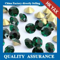 China Hot Selling Emerald Point Back Rhinestone Strass For Earrings,Rhinestone Strass Back Pointed on sale