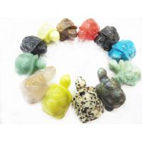 Cheap OEM Colorful Turtle Craft Semi Precious Gemstone Carving Jewellery Making for sale