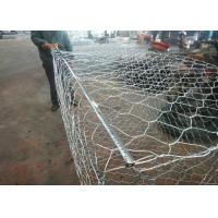 Cheap Woven Hexagonal Wire Mesh Gabion Basket / Gabion Wall Cages 10 - 15 Years Life for sale