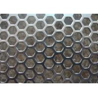 Best Galvanized Perforated Metal Mesh Hexagonal / Round Hole 3mm - 200mm Aperture wholesale