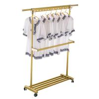 Best H149 Heavy Duty Clothing Foldable Clothes Drying Rack With 3 Casters wholesale