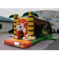 China Cartoon kids Bouncy Castle Inflatable jump house with slide For kids Inflatable Game on sale