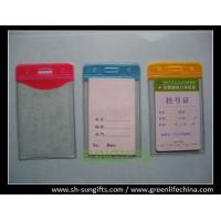 Best Plastic vertical top-load color vinyl bussiness card holder with slot/chain holes wholesale