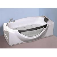 Cheap 1800MM Small Portable Hot Tubs , Single Person Freestanding Whirlpool Tub With Light for sale