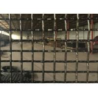 Best Square Pre Crimped Crimped Woven Wire Mesh Medium Carbon Steel For Sieve Quarry wholesale