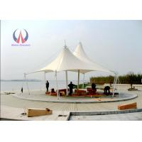 Best Double Ridge Roof Building Shade Structures , Steel Sling Car Wash Shade Structures wholesale