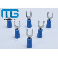Best SV 1.25-4 blue insulator copper Insulated Wire Terminals spade female wire terminals wholesale