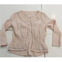 Best Hot Fix Rhinestones Kids Knitted Sweater Cardigan Long Sleeve For Girls wholesale