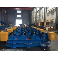 Quality 40T Vessel Pipe Welding Rotator With Rubber Roller , Pipe Rollers for Welding High Speed wholesale