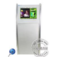 China 19inch Silver Floorstanding Slim Digital Kiosk Capacitive Touch Screen with Front Speaker on sale
