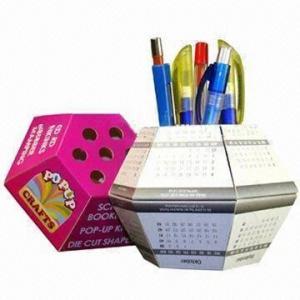 Best Advertising Pop-up Ball Paper Pen Holders, Cube Measures 13x13x7.5cm wholesale