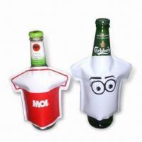 Best Bottle Coolers in T-shirt Design, Made of PVC, Non-toxic, Portable, Reusable and Easy to Use wholesale