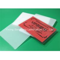 Best Round Corner Hot Lamination Film , Moisture Proof Laminating Sleeves Pouches wholesale