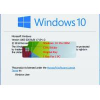 Buy cheap Windows 10 Pro COA sticker / OEM / Retail Box with Original Key 1703 System Version Life Legal Using warranty from wholesalers