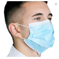Best Disposable Face Mask Blue Color With Earloop And Three Layer Protective Mask,Disposable Nonwoven Face Mask With 3 Ply wholesale