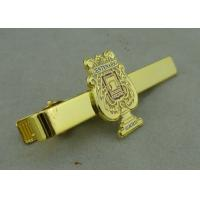 Best Promotional Gold Mens Tie Bar Cufflink Brass Tack By Die Stamped wholesale