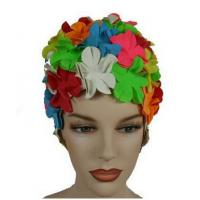 Best Original Flower Swim Cap- Old Fashioned Retro Petal Cap - Multi Color wholesale