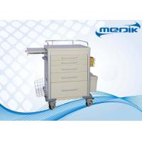China Hospital Emergency Trolley Medical Trolleys With Stainless Steel Guardrail on sale