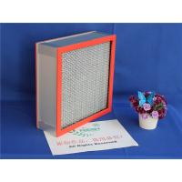 Quality High Temperature Resistants Hepa Panel Filter With 99.99% Fiber Glass Paper wholesale