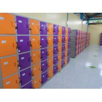 Best ABS / Metal Coin Operated Lockers Anti UV Aging Commercial Gym Lockers wholesale