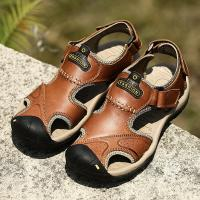 HFCS305 Large Size Summer Genuine leather sandals mens 2017 new arrival