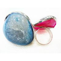 Cheap Mix Color Style Design Fashion Druzy Agate Jewelry, Agate Stone Ring for sale