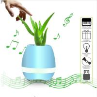 Best Flowerpot Night Lamp Small Wireless Speakers Smart Piano Touch Music Singing Plant Pot wholesale