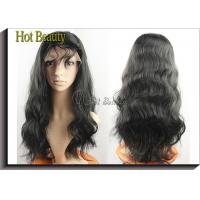 Best Virgin Human Hair Full Head Lace Wigs With Baby Hair , Natural Hairline Human Lace Wigs wholesale