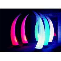 Best Horns Shaped Light Up Inflatables Double Line Stitched For Stage Performance wholesale
