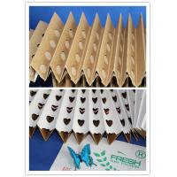 Buy cheap Cardboard Spray Booth Pleated Air Filters Kraft Folding Filter Paper from wholesalers