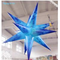 Blue Inflatable Decor Hanging Star with LED Light for Party and Concert Decoration