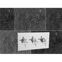 Best Cross Handle Brass 2 Way Thermostatic Shower Valve With Rectangle Plate wholesale