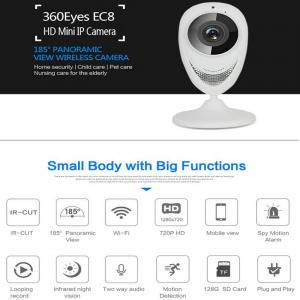 Best EC8 HD 720P Mini Wifi IP Camera Wireless P2P Baby Monitor Network Remote CCTV Surveillance DVR Camera Playback on App wholesale