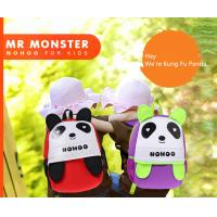 China Eco Friendly Neoprene Polyester Teen School Backpacks with Panda Animal Shape on sale